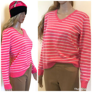 NEW Peck & Peck Pink Cashmere Pullover Sweater PM